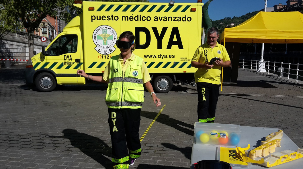 Gafas de simulación Drunkbusters en Aste Nagusia 2016